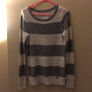 Grey Striped Abercrombie Sweater